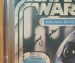 Star Wars Action Figure Cover Set Cgc Ss 9.8 Kenny Baker & Anthony Daniels