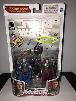Star Wars Action Figure Lot Montross and Jaster Mareel Comic pack Mandalorian