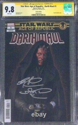 Star Wars Age of Republic Darth Maul #1 CGC 9.8 SS Signed by Ray Park