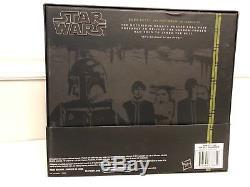 Star Wars Black Series 6 SDCC Boba Fett & Han Carbonite, NIB 2014 comic con
