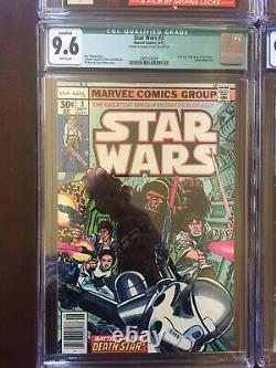 Star Wars Cgc Lot 1-4 VF NM Grade Mega Keys 1st app Luke Han Chewy Vader C3PO R2