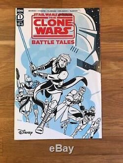 Star Wars Clone Wars #1, 4, 5, 6 & Adventures Battle Tales #1 (110 variant)