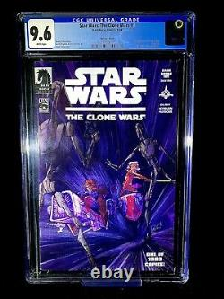 Star Wars Clone Wars 1 CGC 9.6 1st Ahsoka Tano Dark Horse 100 Variant Disney +