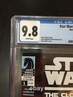 Star Wars Clone Wars 1 CGC 9.8 1st Ahsoka Tano App Mandalorian 2008 DH