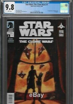 Star Wars Clone Wars 1 CGC 9.8 1st Ahsoka Tano Captain Rex Mandalorian 2008 DH
