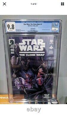 Star Wars Clone Wars 1 CGC 9.8 1st Ahsoka Tano Dark Horse 100 Variant