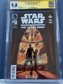 Star Wars Clone Wars 1 CGC 9.8 SS 1st appearance of Ahsoka in comics