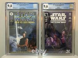 Star Wars Clone Wars 1 Variant CGC 9.6 & Heir to the Empire 1 9.8 1st Thrawn