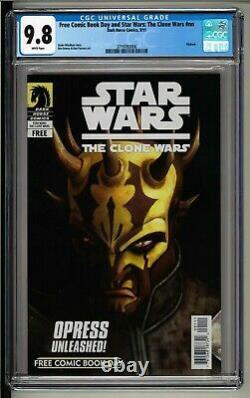 Star Wars Clone Wars FCBD (2011) CGC 9.8 White! 1st Savage Opress! Darth Maul