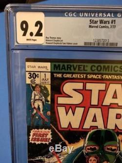 Star Wars Comic #1 1977 -Marvel- CGC graded 9.2 NM- WHITE PAGES KEY 1st Issue