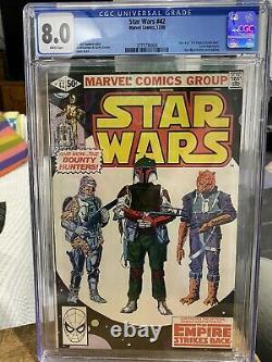 Star Wars Comic #42 CGC 8.0 First Appearance Boba Fett AND Yoda