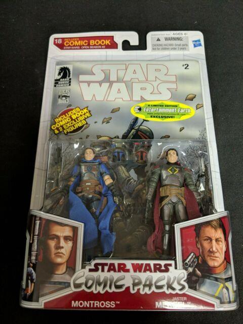 Star Wars Comic Packs #2 Open Season Montross & Jaster Mereel. New Sealed