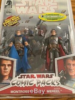 Star Wars Comic Packs MONTROSS & Jaster MEREEL Figure Mandalorian Leader EE