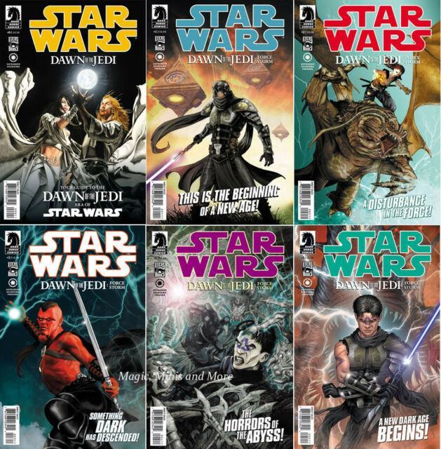 Star Wars Dawn Of The Jedi Force Storm (6) Comic Set #0 1 2 3 4 5 1st Print