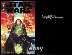 Star Wars Dark Empire Limited Gold Logo Comic Set 1-2-3-4-5-6 Lot ROTJ Sequel