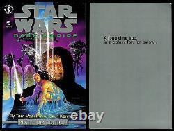 Star Wars Dark Empire Special Platinum Ed. Comic Set 1-2-3-4-5-6 Lot ROTJ Sequel