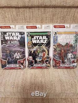 Star Wars Dark Horse Action Figure Lot of Comic Packs Expanded Universe MOC