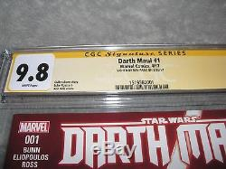 Star Wars Darth Maul #1 Reg Cover/CGC Signature Series 9.8/Signed by Ray Park