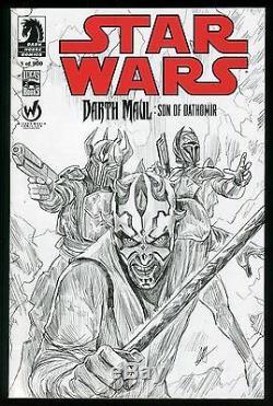 Star Wars Darth Maul Son of Dathomir 1 Comic Wizard World Ltd to 500 Sketch Var
