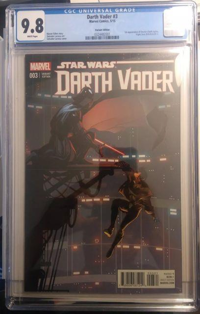 Star Wars Darth Vader #3b 2015 Larroca 125 Variant 1st Printing Cgc 9.8
