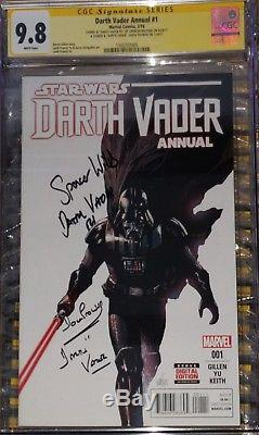 Star Wars Darth Vader Annual #1 CGC SS 9.8 sig by David Prowse & Spencer Wilding