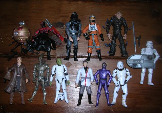 Star Wars Expanded Universe Eu Comic Lot Of 12 Figures Clone Commando Vong Plus