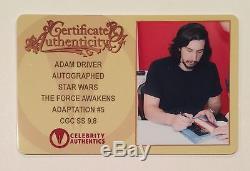 Star Wars Force Awakens #5 Cgc Ss 9.8 Variant Kylo Ren Signed Adam Driver