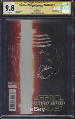 Star Wars Force Awakens #5 Kylo Ren Photo Cover CGC 9.8 SS Signed by Adam Driver