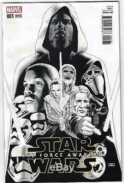 Star Wars Force Awakens Adaptation #1 1200 Cassady Sketch Variant VF/NM