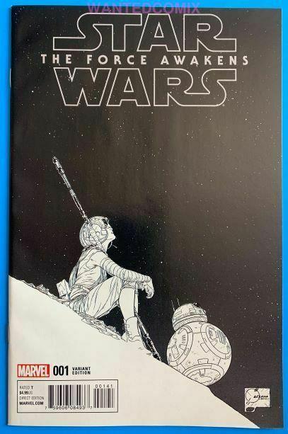 Star Wars Force Awakens Adaptation #1 Joe Quesada 1300 Sketch Variant Cover Rey