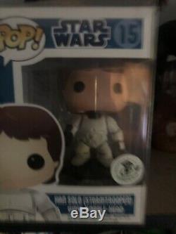 Star Wars Funko Pop Luke And Han Stormtrooper Comic Con Exclusive ECCC