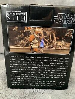 Star Wars Gentle Giant Commander Cody Mini Bust Comic Con 2007 Exclusive Used