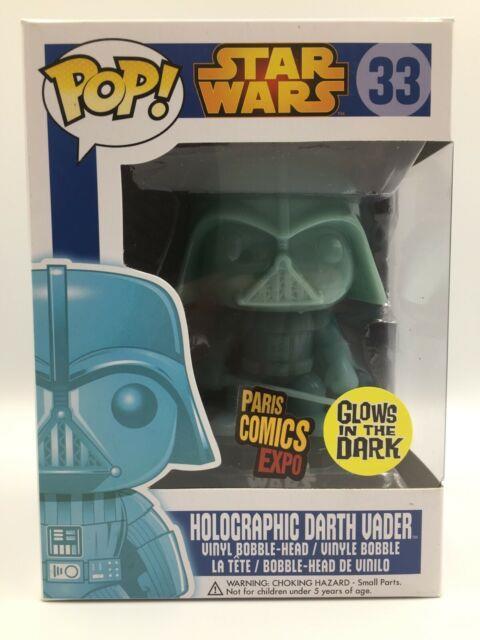 Star Wars Holographic Darth Vader Pop Funko Paris Comics Expo Con Rare