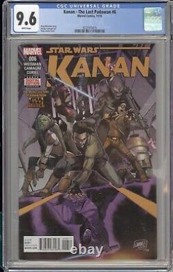 Star Wars Kanan The Last Padawan #6 Cgc 9.6 1st Sabine Wren Marvel Comics 2015