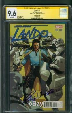 Star Wars Lando 1 CGC 9.6 SS Billy Dee Williams Remark Variant 2018 SOLO Movie