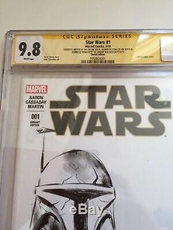 Star Wars Lando #1 CGC 9.8 3x SS signed Stan Lee, Jeremy Bulloch, Jae Lee Sketch