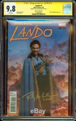 Star Wars Lando #1 Photo Variant CGC SS 9.8 Billy Dee Williams NM+/MT