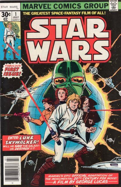 Star Wars Marvel #1 9.8 Near Mint / Mint Sc-#134 Owithw Pages First Print 1977