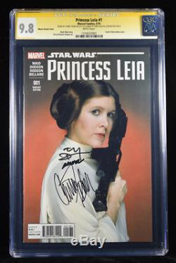 Star Wars Princess Leia #1 Cgc-ss 9.8 Sig Carrie Fisher Orig 1977 Actress 2015