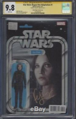 Star Wars Rogue One #1 Action Figure variant CGC 9.8 SS Signed Felicity Jones