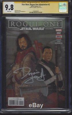 Star Wars Rogue One Adaptation #2 CGC 9.8 SS Signed by Donnie Yen