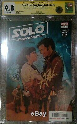 Star Wars Solo Adaptation #4 CGC 9.8 SS Signed Alden Ehrenreich & Emilia Clarke