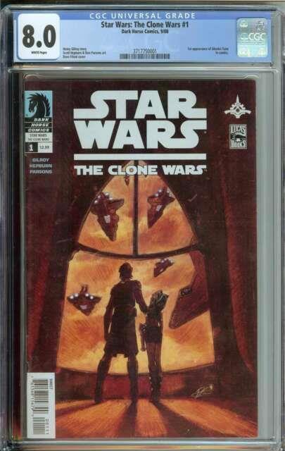 Star Wars The Clone Wars #1 Cgc 8.0 1st App Ahsoka Tano Dark Horse