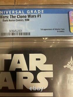 Star Wars The Clone Wars #1 CGC 9.61st App Ahsoka Tano Dark HorseMandalorian