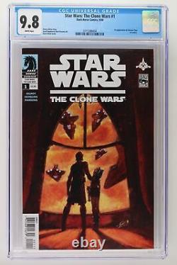 Star Wars The Clone Wars #1 Dark Horse 2008 CGC 9.8 1st App Ahsoka Tano