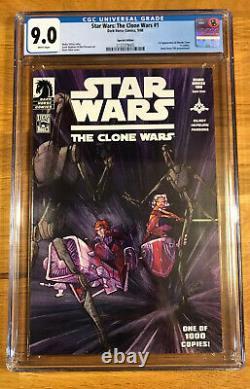 Star Wars The Clone Wars #1, Filoni Variant, DH 100, CGC 9.0 VF/NM, 1st Ahsoka