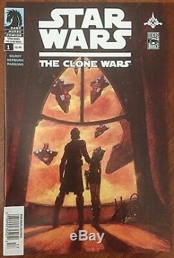 Star Wars The Clone Wars (2008) #1 Signed Newsstand Variant Comic Ahsoka