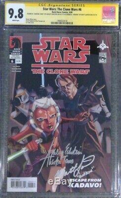 Star Wars The Clone Wars #6 CGC 9.8 SS Signed by Ashley Eckstein & Matt Lanter