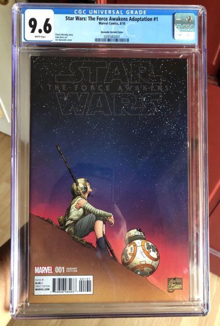 Star Wars The Force Awakens Adaptation #1 Quesada 1100 Cgc 9.6 No Reserve