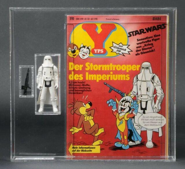Star Wars Vintage Hoth Stormtrooper Yps Figure And Comic Ukg 85 (85/85/80)